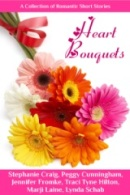 Cover of Short story collection, Heart Bouquets with the buy link for Amazon