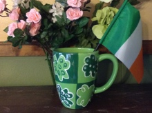Irish mug and flag