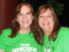 Becky Yauger and I got to be Munchkins at the My Book Therapy Pizza Party