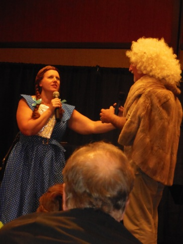 Susan May Warren as Dorothy and Jim Rubart as the Cowardly Lion