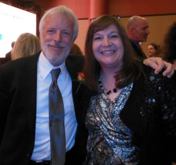 Best-selling author, Frank Peretti, and me at the 2013 ACFW Gala