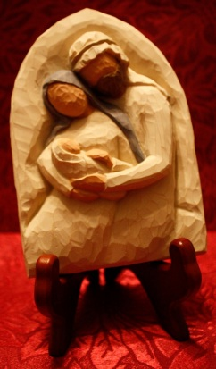 nativity carved hug