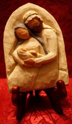 nativity carved hug