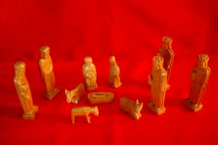 nativity carved