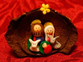 nativity chestnut shell