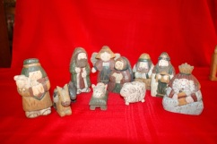 nativity rough painted