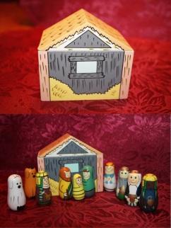 Russian nesting nativity